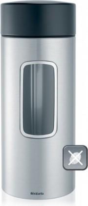 Банка для хранения продуктов Brabantia с окном 2.2л, матовая сталь 371844