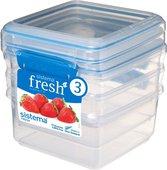 Набор контейнеров Sistema Fresh, 1.2л, 3шт, голубой 921630