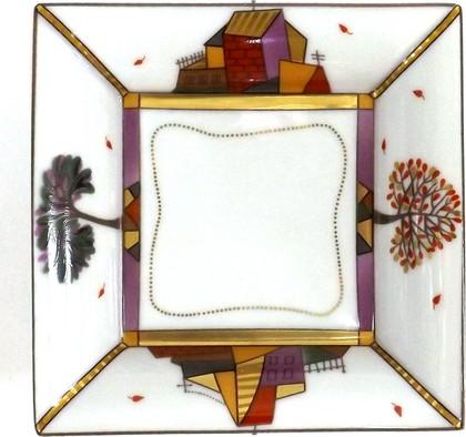 Подставка для мелочей ИФЗ Осенний листопад, форма Европейская, фарфор 80.69548.00.1