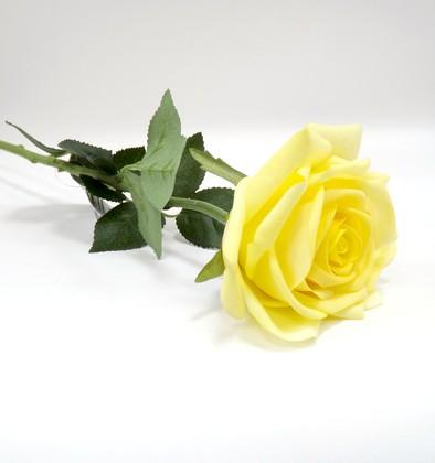 Роза Гран При ярко жёлтая 65см живое прикосновение Atelier de Fleur WAF0939-TA
