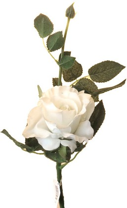 Цветок искуственный Роза Лимбо кремово-зеленая, 30см живое прикосновение Top Art Studio WAF0597-TA