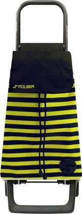 Сумка-тележка хозяйственная черно-желтая ROLSER Joy-1800 BAB016negro/lima