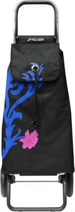 Сумка-тележка хозяйственная сине-чёрная Rolser LOGIC RG PAC067azul