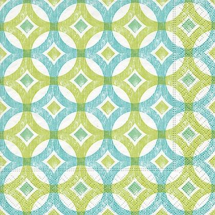 Салфетки коктейль Вокруг, 25x25см, 3 слоя, 20шт Paper+Design 11871