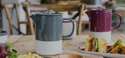 Чайная пара KitchenCraft La Cafetiere Barcelona Ретро Блю, 260мл C000396
