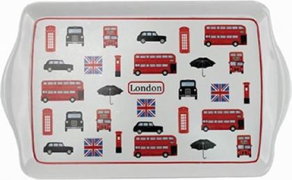 Поднос Лондон коллаж 38x23см Leonardo Collection LP92172