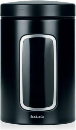 Контейнер с окном 1.4л, стальной чёрный матовый Brabantia 333521