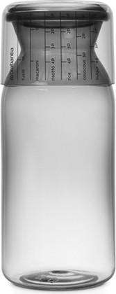 Пластиковая банка Brabantia с мерным стаканом 1.3л, серый 291005
