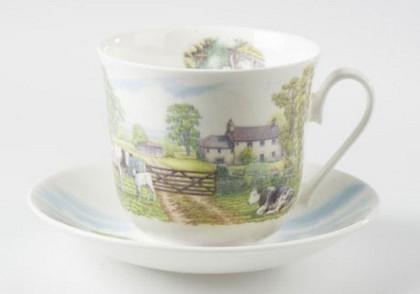 Чайная пара для завтрака Английские пейзажи 500мл Roy Kirkham XENGSC1100