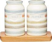 Набор соль и перец KitchenCraft Classic на деревянной подставке, 12х9см KCCCSNP