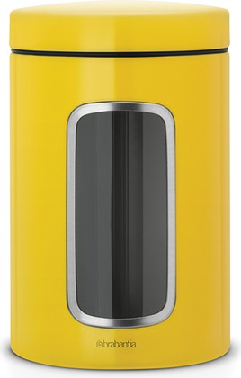 Контейнер для сыпучих продуктов с окном 1,4л, жёлтая маргаритка Brabantia 486043