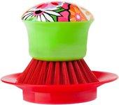 Щётка для посуды на подставке Vigar Citric red 4587