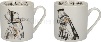 Кружки Creative Tops V&A Alice In Wonderland Король и Королева, набор 2шт, 350мл C000047