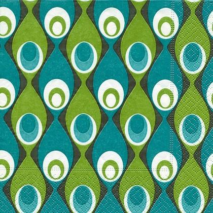 Салфетки для декупажа Капли, 33x33см, 3 слоя, 20шт Paper+Design 21870