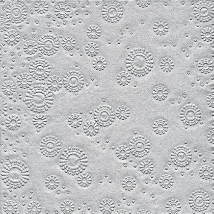 Салфетки для декупажа Серебро 33x33см, 3 слоя, 16шт Paper+Design 24025
