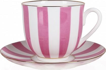 Чашка с блюдцем Да и нет, светло-розовый, ф. Ландыш2 ИФЗ 81.25355.00.5