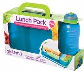 Набор контейнер с разделителями 975мл и бутылка 330мл Sistema Lunch 41575