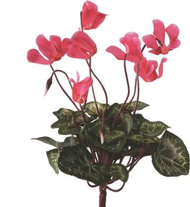 Цветок искусственный Цикламен букетик 25см тёмно-розовый мини Floralsilk 12090D-PI