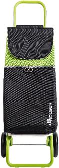Сумка-тележка Rolser Mtl Color, 2 колеса, чёрная-лайм MTL001Lima