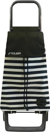 Сумка-тележка хозяйственная черно-белая ROLSER Joy-1800 BAB016blanco/negro
