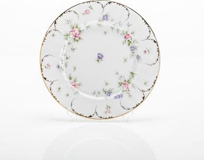 Набор тарелок Сакура, 25см Porcelaine Czech Gold Hands LUISA027GTM25x6