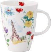 Кружка Top Art Studio Луиза Париж в цветах, 400мл XTOPPAR1035