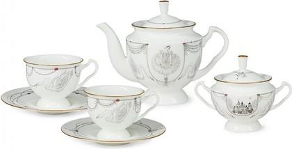 Сервиз чайный ИФЗ Айседора, Волшебное лебединое озеро, 6 персон, 14 предметов 81.26092.00.1