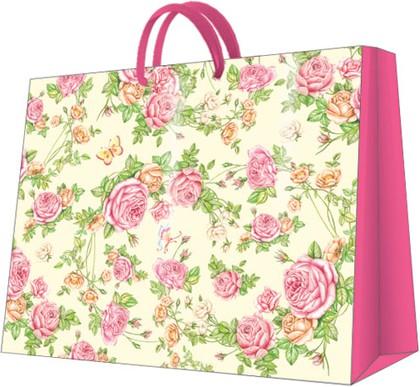 Пакет подарочный бумажный Paw Садовые Розы 54x44x16см AGB014401