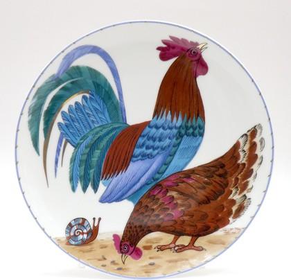 Тарелка декоративная Петушок и курочка, ф. Эллипс ИФЗ 80.86063.00.1
