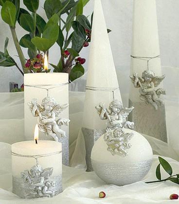 "Свеча ""Купидон"" пирамида 7х7х23cм Bartek Candles 5902989578554"