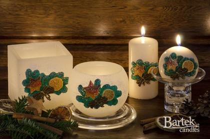 """Свеча """"Сочельник"""" колонна 8х15см Bartek Candles 189012"""