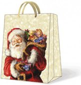 Пакет подарочный бумажный Paw Санта с игрушками 30х12х41 см AGB004602