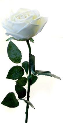 Роза Гран При белая 65см, живое прикосновение Atelier de Fleur WAF0044-TA