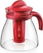 Чайник заварочный Tescoma Monte Carlo 1.5л, с настаивателем, красный 647110.20