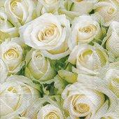 Салфетки для декупажа Paper+Design Белые розы, 33x33см, 20шт 21454