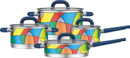 Набор посуды из нержавеющей стали, 8 предметов Yamateru TAKARA S YTASET8S
