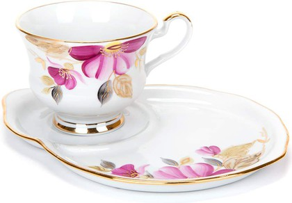 Набор Весенний 2пр. Пурпуровый цветок Дулёвский фарфор ДС1356