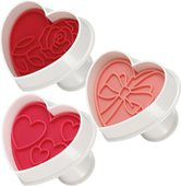 Формочки для печенья Tescoma Delicia Сердечки, с печатью, 3шт 630856.00