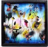 Картина стеклянная Эйфория Флёр 50x50см Top Art Studio LG1222-TA