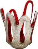 Ваза из цветного стекла Jozefina для фруктов 36см Коррида 07-161-360-589