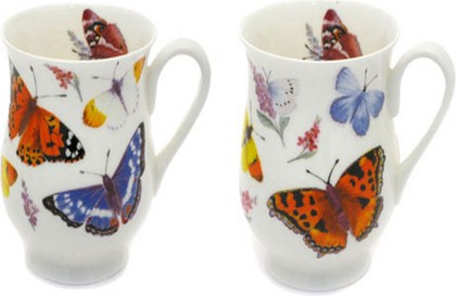 Кружка Бабочки, Элеонора, 325мл. Roy Kirkham XBUTG1003