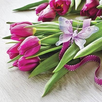 Салфетки для декупажа Paw Тюльпаны, 33x33см, 20шт SDL085600