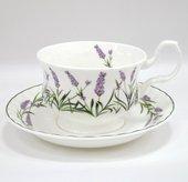 Чайная пара для завтрака Лаванда Прованса 400мл Top Art Studio LD2234-TA
