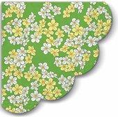Салфетки круглые 3-х слойные Цветочный ковер, d32, 12шт Paw SDR061306