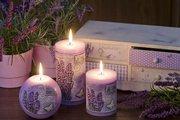 Свеча Лавандовый прованс, шар 10см Bartek Candles 5907602697438