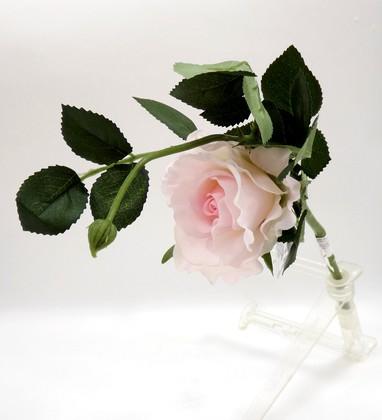 Цветок искусственный Роза Лимбо с почкой розовая 30см Top Art Studio WAF0598-TA