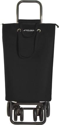 Сумка-тележка Rolser SuperBag, поворотные колёса, складная, чёрная SUP003negro