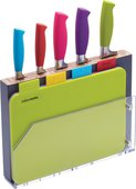 Набор ножей KitchenCraft Colourworks с разделочными досками CWKNB15