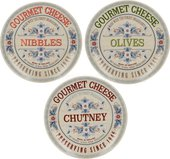 Тарелка для сыра Creative Tops Гурме, 15см, набор 3шт 5214467