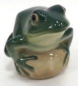 Статуэтка Лягушка прудовая, бирюзовая, 6.8см, фарфор ИФЗ 82.63685.00.1